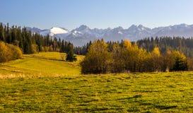 Φθινόπωρο κοντά στα βουνά Στοκ φωτογραφία με δικαίωμα ελεύθερης χρήσης