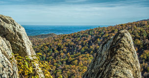 Φθινόπωρο μέσω του βράχου Στοκ εικόνες με δικαίωμα ελεύθερης χρήσης