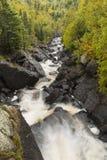 Φθινόπωρο ποταμών λευκών φυσικό Στοκ Εικόνα