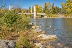 Φθινόπωρο που περιβάλλει τη γέφυρα Jaiper Στοκ Φωτογραφίες