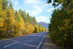 Φθινόπωρο, δρόμος Στοκ Εικόνες