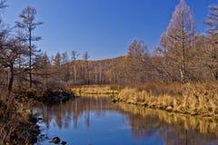 Φθινόπωρο σε Arxan, Κίνα Στοκ φωτογραφία με δικαίωμα ελεύθερης χρήσης