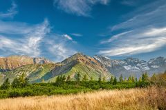 Φθινόπωρο σε Hala Gasienicowa, βουνά Tatra, Πολωνία Στοκ Φωτογραφίες