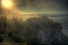 Φθινόπωρο σε Meteora, Ελλάδα - μοναστήρι ST Stephen Στοκ Εικόνα