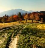 Φθινόπωρο στα τσεχικά βουνά στοκ φωτογραφία