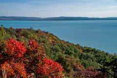 Φθινόπωρο στη λίμνη Balaton Στοκ φωτογραφία με δικαίωμα ελεύθερης χρήσης