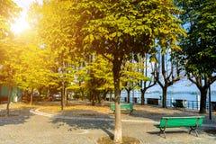 Φθινόπωρο στον περίπατο Lago Maggiore λιμνών Ιταλία, Arona Στοκ εικόνα με δικαίωμα ελεύθερης χρήσης