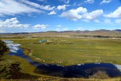 Φθινόπωρο στο θιβετιανό αυτόνομο νομαρχιακό διαμέρισμα Gannan Στοκ Εικόνες