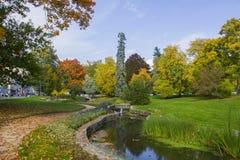 Φθινόπωρο στο κεντρικό πάρκο SPA - μικρό δυτικό Bohemian spa θέρετρο Marianske Lazne Marienbad - Δημοκρατία της Τσεχίας Στοκ φωτογραφίες με δικαίωμα ελεύθερης χρήσης
