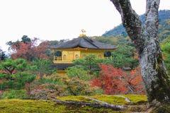 Φθινόπωρο στο ναό Kinkakuji (χρυσό περίπτερο), βόρειο Κιότο, Ιαπωνία Στοκ Φωτογραφία