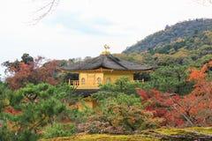 Φθινόπωρο στο ναό Kinkakuji (χρυσό περίπτερο), βόρειο Κιότο, Ιαπωνία Στοκ Φωτογραφίες