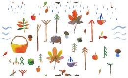 Φθινόπωρο σχεδίων στο δάσος Στοκ εικόνα με δικαίωμα ελεύθερης χρήσης