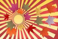 Φθινόπωρο υποβάθρου γειά σου διανυσματική απεικόνιση