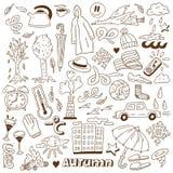 Φθινόπωρο doodles Στοκ εικόνα με δικαίωμα ελεύθερης χρήσης