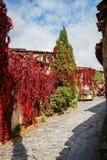 Φθινόπωρο Patones de Arriba, Comunidad de Μαδρίτη, Ισπανία Στοκ φωτογραφίες με δικαίωμα ελεύθερης χρήσης