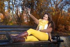 Φθινόπωρο selfie Στοκ Εικόνες