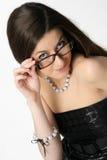φθορά γυαλιών κοριτσιών Στοκ εικόνες με δικαίωμα ελεύθερης χρήσης