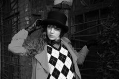 φθορά καπέλων κοριτσιών κ&upsi Στοκ Εικόνα
