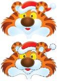 φθορά τιγρών Χριστουγέννων απεικόνιση αποθεμάτων