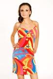 φθορά φορεμάτων brunette Στοκ Φωτογραφία