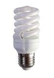 φθορισμού απομονωμένο φως βολβών πέρα από το λευκό Στοκ φωτογραφία με δικαίωμα ελεύθερης χρήσης