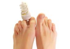 φθορισμού λαμπτήρας ποδιών Στοκ φωτογραφία με δικαίωμα ελεύθερης χρήσης