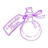 Φιάλη με lavender την ουσία Στοκ Εικόνες