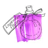 Φιάλη με lavender την ουσία Στοκ Φωτογραφία