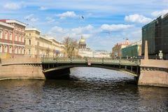 Φιλήστε τη γέφυρα στο Moika Στοκ Εικόνα