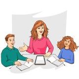 Φιλία καναπέδων disscus μαθητών παιδιών δασκάλων ελεύθερη απεικόνιση δικαιώματος