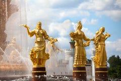 Φιλία πηγών των εθνών ή των λαών της ΕΣΣΔ, έκθεση των επιτευγμάτων της εθνικής οικονομίας VDNKh, Μόσχα, Ρωσία στοκ φωτογραφία με δικαίωμα ελεύθερης χρήσης