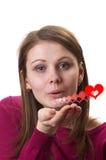 φιλί αέρα Στοκ φωτογραφία με δικαίωμα ελεύθερης χρήσης