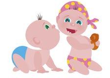 φιλί απεικόνισης μωρών Στοκ Φωτογραφίες