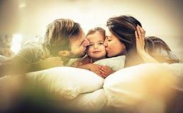 Φιλί για το μικρό κορίτσι μας στοκ φωτογραφία
