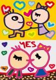 φιλί καρδιών Στοκ εικόνες με δικαίωμα ελεύθερης χρήσης