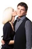 φιλί μάγουλων Στοκ φωτογραφία με δικαίωμα ελεύθερης χρήσης