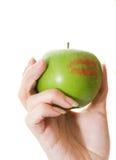 φιλί μήλων Στοκ Φωτογραφία