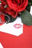 φιλί φακέλων Στοκ Φωτογραφία