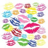 Φιλί χρώματος Ελεύθερη απεικόνιση δικαιώματος