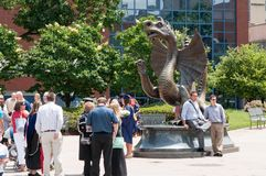 ΦΙΛΑΔΕΛΦΕΙΑ, PA - 13 ΙΟΥΝΊΟΥ: Πανεπιστημιούπολη Drexel στο πανεπιστημιακό τμήμα πόλεων της δυτικής Φιλαδέλφειας στη βαθμολόγηση στοκ εικόνες