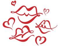 φιλιά καρδιών ελεύθερη απεικόνιση δικαιώματος