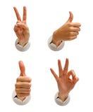 φιλικά σημάδια χεριών Στοκ εικόνα με δικαίωμα ελεύθερης χρήσης