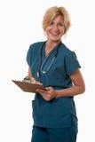 Φιλική ελκυστική νοσοκόμα γιατρών εργαζομένων υγειονομικής περίθαλψης Στοκ Φωτογραφίες
