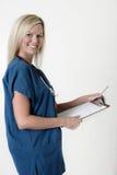 φιλική νοσοκόμα εκμετάλλευσης περιοχών αποκομμάτων Στοκ φωτογραφία με δικαίωμα ελεύθερης χρήσης