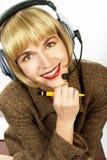 φιλική υποστήριξη εξυπηρετήσεων πελατών Στοκ φωτογραφία με δικαίωμα ελεύθερης χρήσης