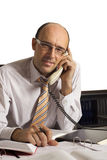 Φιλικός επιχειρηματίας στο τηλέφωνο στοκ εικόνα με δικαίωμα ελεύθερης χρήσης