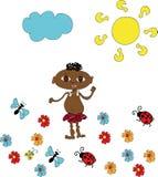 φιλικός μικρός afro Στοκ φωτογραφία με δικαίωμα ελεύθερης χρήσης