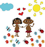 φιλικός μικρός afro Στοκ Εικόνες
