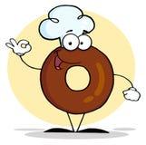 Φιλικός doughnut χαρακτήρας κινουμένων σχεδίων Στοκ φωτογραφία με δικαίωμα ελεύθερης χρήσης