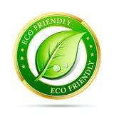φιλικό εικονίδιο eco Στοκ Εικόνα